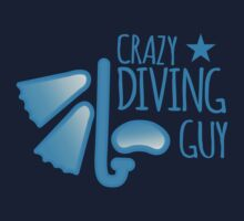 Crazy Diving guy (with snorkel and mask) One Piece - Short Sleeve