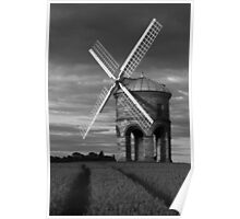 MIll and tramlines B&W Poster