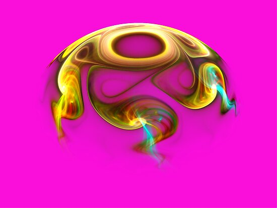 Hemisphere on Pink  (Pong 7) by barrowda