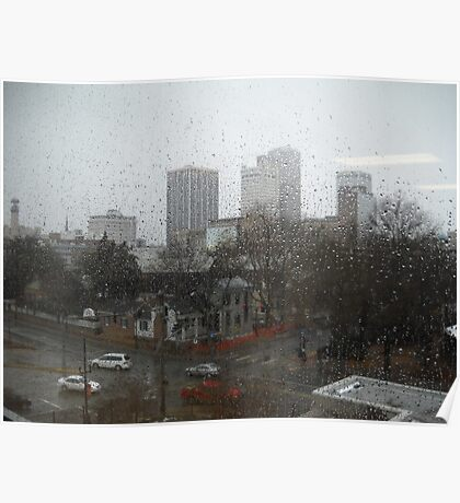 Rainfall in Downtown  Poster