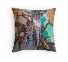 Old Town, Nice, French Riviera Throw Pillow