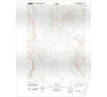 USGS Topo Map Oregon Poverty Basin North 20110829 TM Poster