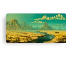 Sunset on savannah Canvas Print