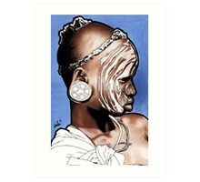 African Child with Stretched Ears Art Print