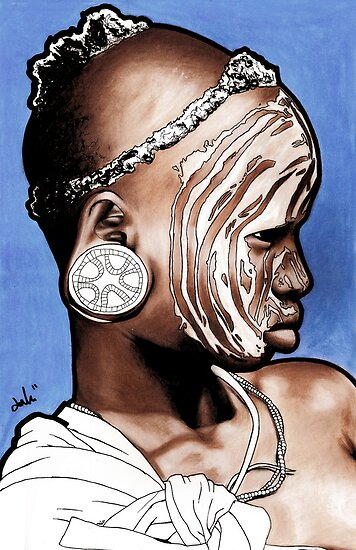 African Child with Stretched Ears by jonathanlove