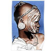 African Child with Stretched Ears Poster