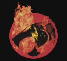 THUNDERCATS HUGE FLAMING LOGO by adamcampen