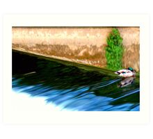 Whats a guy gotta do to get some peace and quiet around here? Art Print