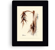 Huntington Gardens Plein Air Bamboo Drawing #1 Canvas Print