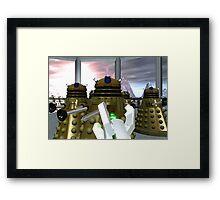 Daleks - Oops! Framed Print