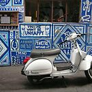 Graffiti and Vespa by Roz McQuillan
