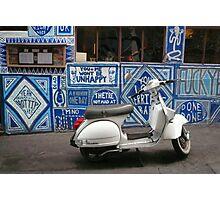 Graffiti and Vespa Photographic Print