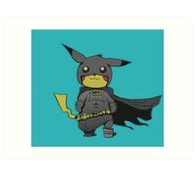 Bat Pikachu Art Print