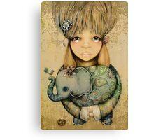 elephant child Canvas Print
