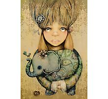 elephant child Photographic Print