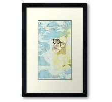 Peeping through the clouds Framed Print