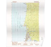 USGS Topo Map Oregon Newport North 280921 1984 24000 Poster