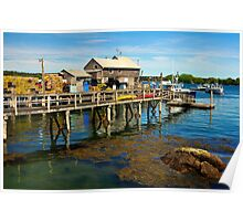 Wharf, Friendship, Maine Poster