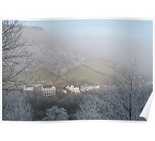 Sunny spot in the freezing mist Poster