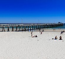 Henley Beach Jetty, Hot Summers Day. by Scott Schrapel