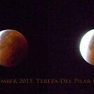 Red moon. Total Lunar Eclipse. LISBON. 28th September 2015. 5.05 a.m. to 5.18 a.m. by terezadelpilar~ art & architecture
