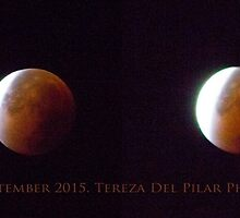 Red moon. Total Lunar Eclipse. 28th September 2015. 5.05 a.m. to 5.18 a.m. by terezadelpilar~ art & architecture