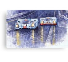 Gulf-Porsche 917 K Spa Francorchamps 1970 Canvas Print