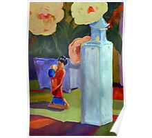 China Doll and Vase Poster