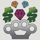 diamond-money-brassknuckles by Tiffany O'Brien