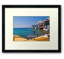 Greece. Mykonos. Little Venice in the afternoon. Framed Print