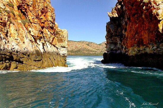 Horizontal Falls, Large opening, Western Australia by Julia Harwood