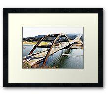 Pennybacker Bridge, Austin Texas Framed Print