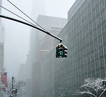 New York 42nd Street - Traffic light by Yannick Verkindere