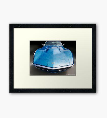 Corvette Blue Dream Framed Print