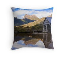 The Old Boat Shed - Dove Lake Throw Pillow