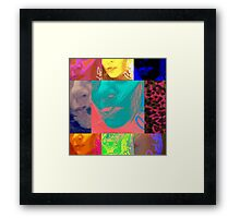 Bianco Faces Framed Print