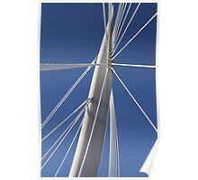 Abstract Bridge Lines, Winnipeg, Manitoba, Canada  Poster