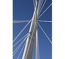 Abstract Bridge Lines, Winnipeg, Manitoba, Canada  Photographic Print