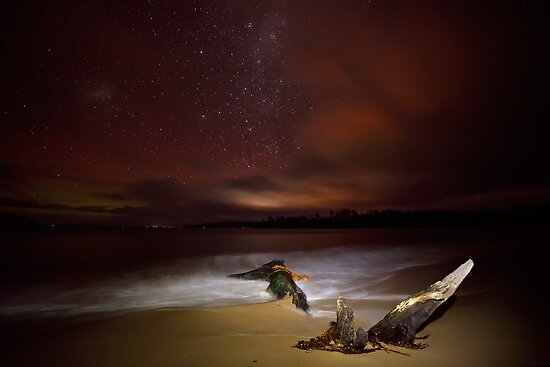 Randalls Bay at Night #3 by Chris Cobern