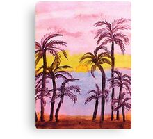 Sunrise on the East Coast, watercolor Canvas Print
