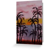 Sunset on the West Coast, watercolor Greeting Card