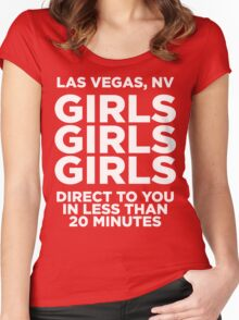 LAS VEGAS TEE - GIRLS GIRLS GIRLS  Women's Fitted Scoop T-Shirt