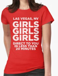 LAS VEGAS TEE - GIRLS GIRLS GIRLS  Womens Fitted T-Shirt