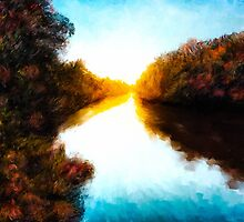 Daydreams  - Autumn Landscape - Abstract Impressionism by Mark Tisdale