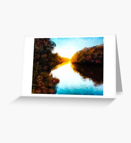 Daydreams  - Autumn Landscape - Abstract Impressionism Greeting Card