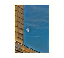 Urban Moonscape Art Print