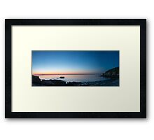 Boulder Beach Panorama – Acadia National Park, Maine Framed Print