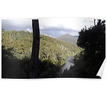 Tasmania's Leven River - seen from Loongana road Poster