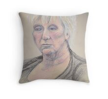 Portrait in oil pastels Throw Pillow