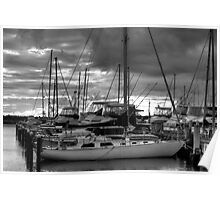 Yachts in Freo Poster